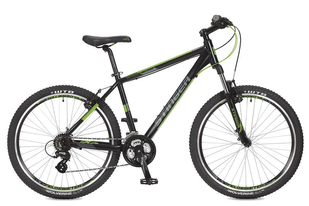 """Велосипед горный Stinger """"Reload"""", цвет: черный, 26"""", рама 16"""""""