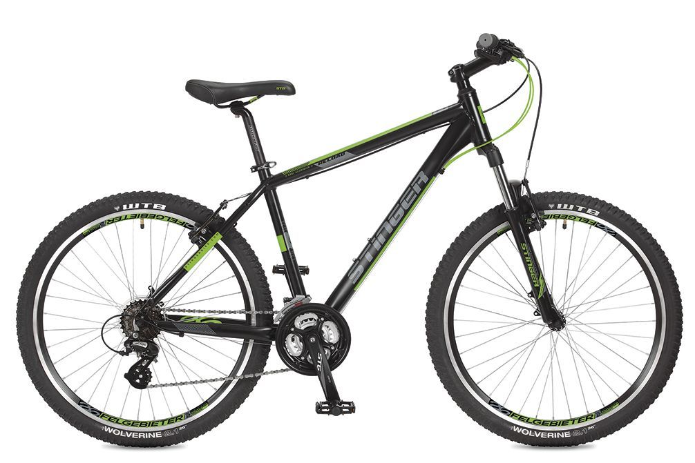 Велосипед горный Stinger Reload, цвет: черный, 26, рама 18