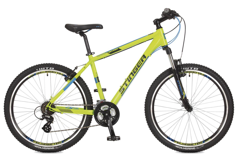 "Велосипед горный Stinger ""Reload"", цвет: зеленый, 26"", рама 18"""