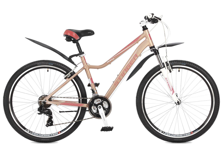"""Велосипед горный Stinger """"Vesta"""", цвет: розовый, 26"""", рама 17"""""""