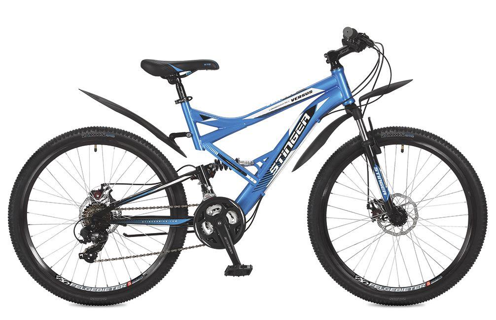 Велосипед горный Stinger Versus D, цвет: синий, 26, рама 20