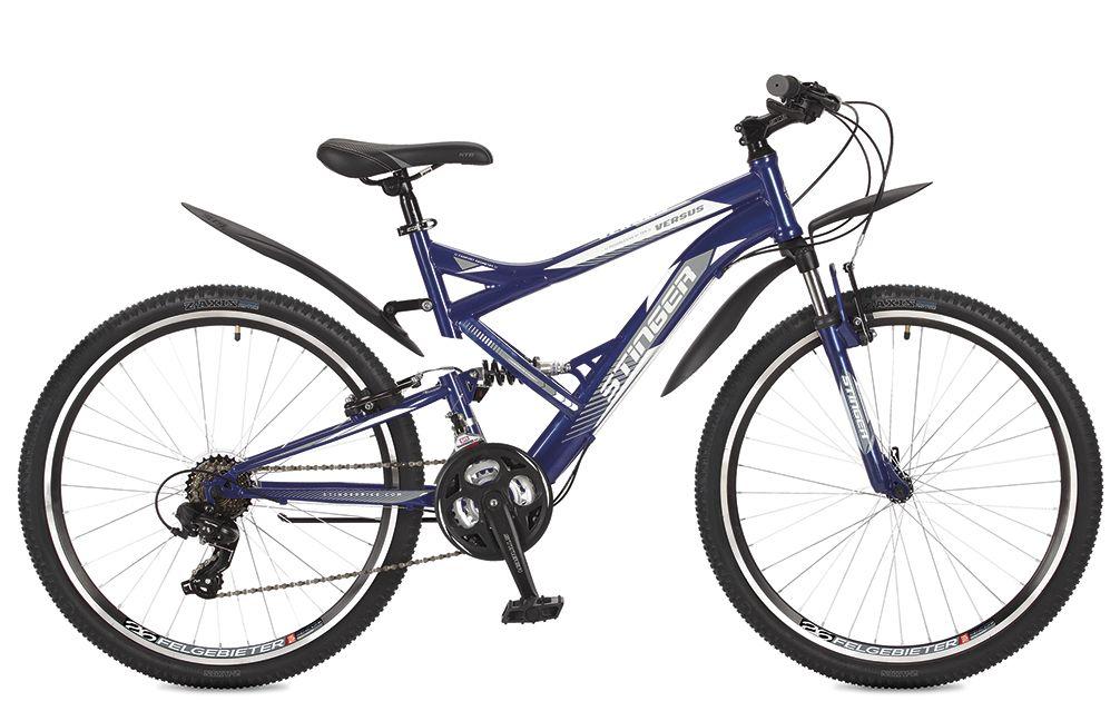 Велосипед горный Stinger Versus, цвет: синий, 26, рама 20