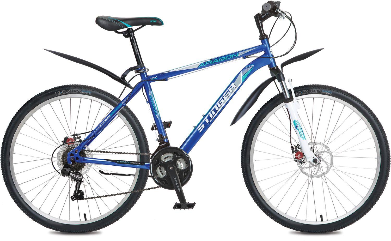 Велосипед горный Stinger Aragon 220D, цвет: синий, 26, рама 20