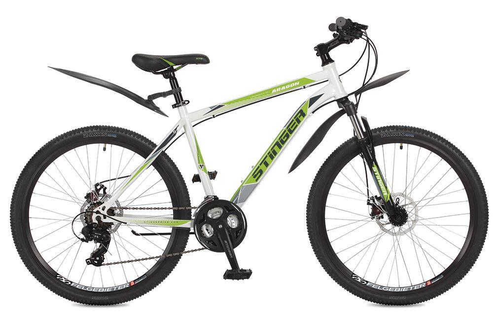 Велосипед горный Stinger Aragon, цвет: белый, 26, рама 16