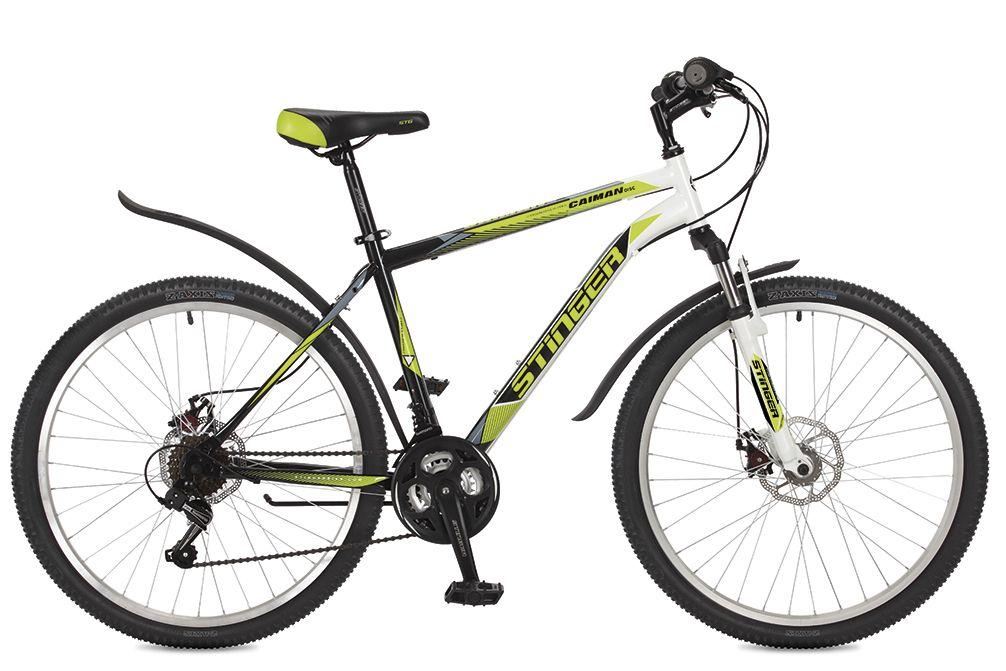 Велосипед горный Stinger Caiman D, цвет: зеленый, 26, рама 20