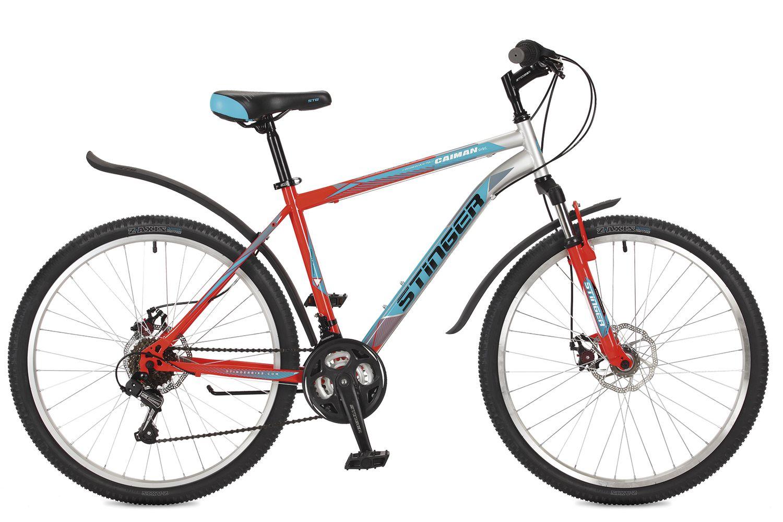 Велосипед горный Stinger Caiman D, цвет: оранжевый, 26, рама 20. 26SHD.CAIMD.20OR7