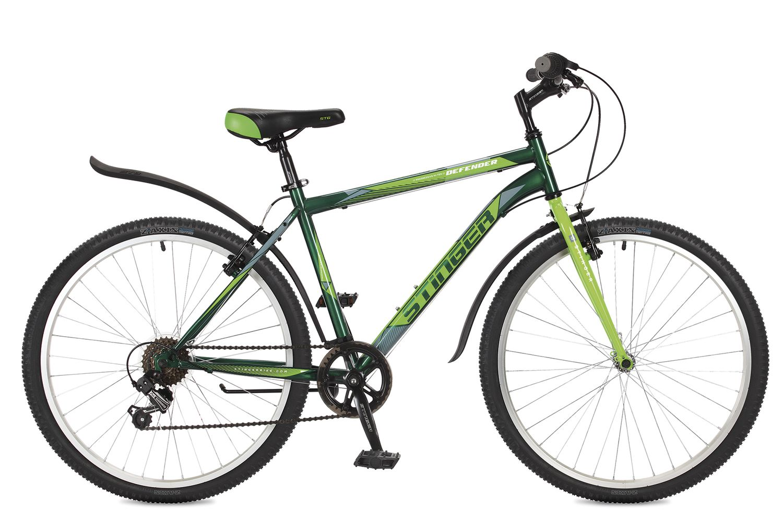Велосипед горный Stinger Defender, цвет: зеленый, 26, рама 18. 26SHV.DEFEND.18GN7