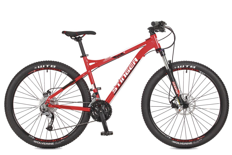 Велосипед горный Stinger Zeta D, цвет: красный, 27.5, рама 16
