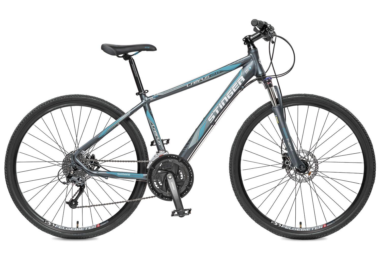 Велосипед горный Stinger Campus 2.0, цвет: синий, 28, рама 17