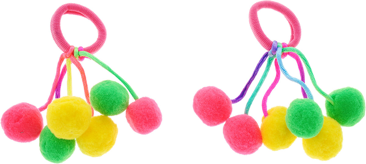 Baby's Joy Резинка для волос Помпоны малые 2 шт MN 38_розовый baby s joy резинка для волос цвет красный белый розовый 2 шт