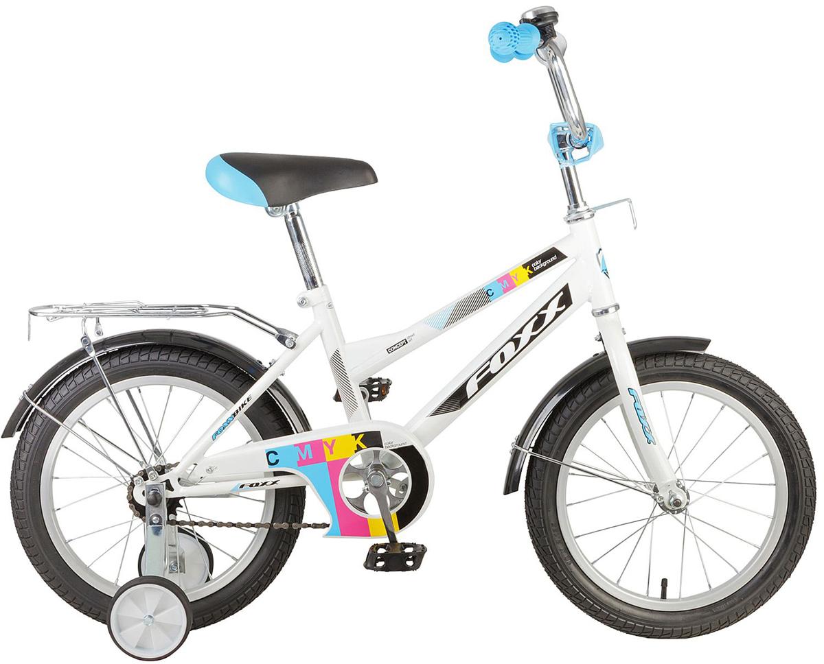 Велосипед детский FOXX CMYK, цвет: белый, 16 черногория путеводитель карта