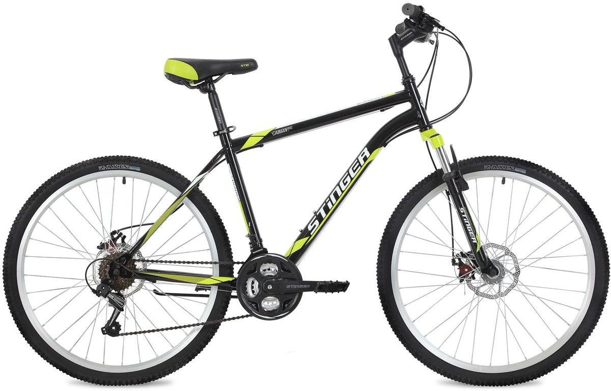 Велосипед горный Stinger Caiman D, цвет: черный, 26, рама 16
