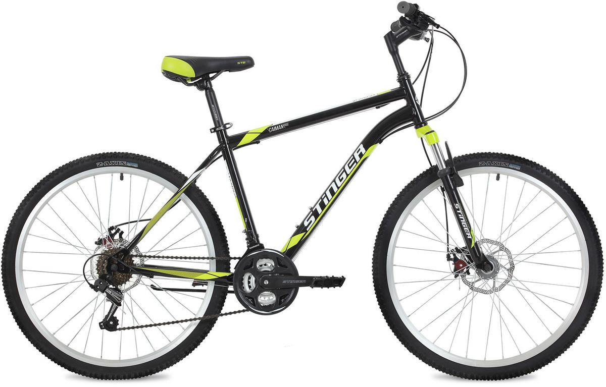 Велосипед горный Stinger Caiman D, цвет: черный, 26, рама 20