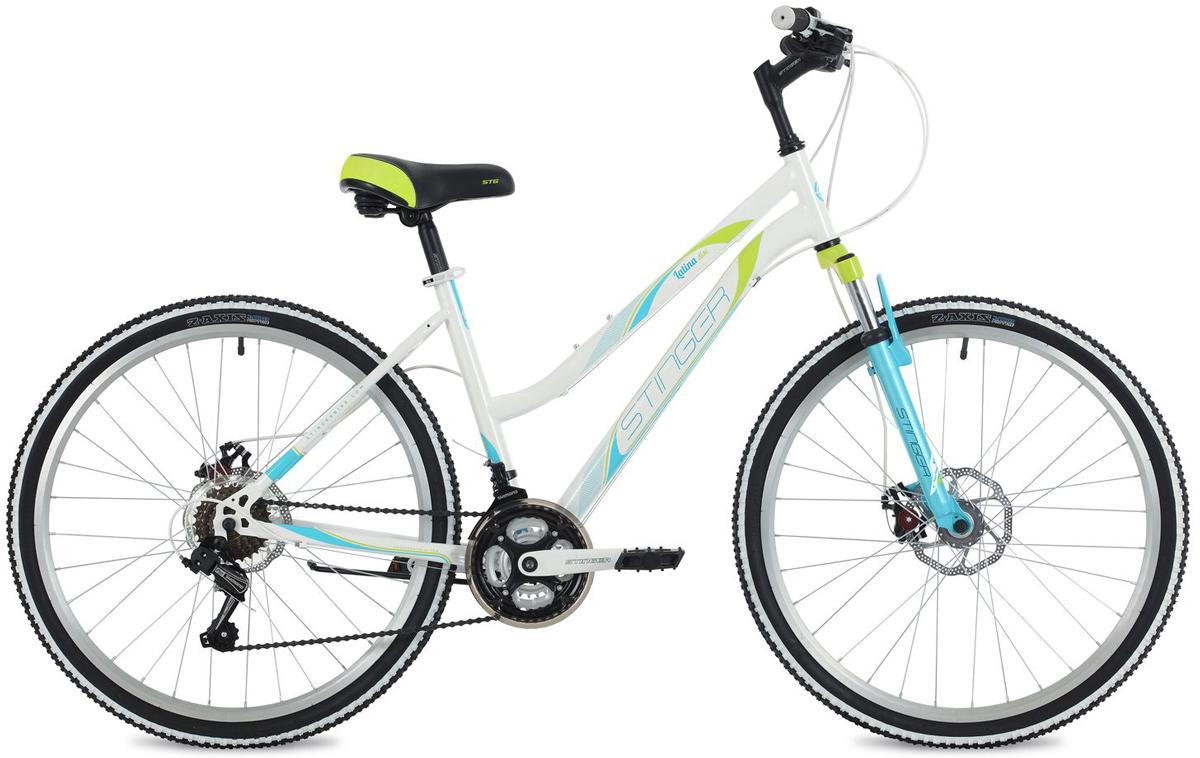 Велосипед горный Stinger Latina D, цвет: белый, 26, рама 15