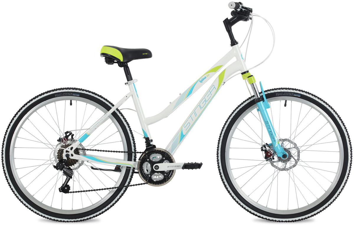 Велосипед горный Stinger Latina D, цвет: белый, 26, рама 17 детство лидера