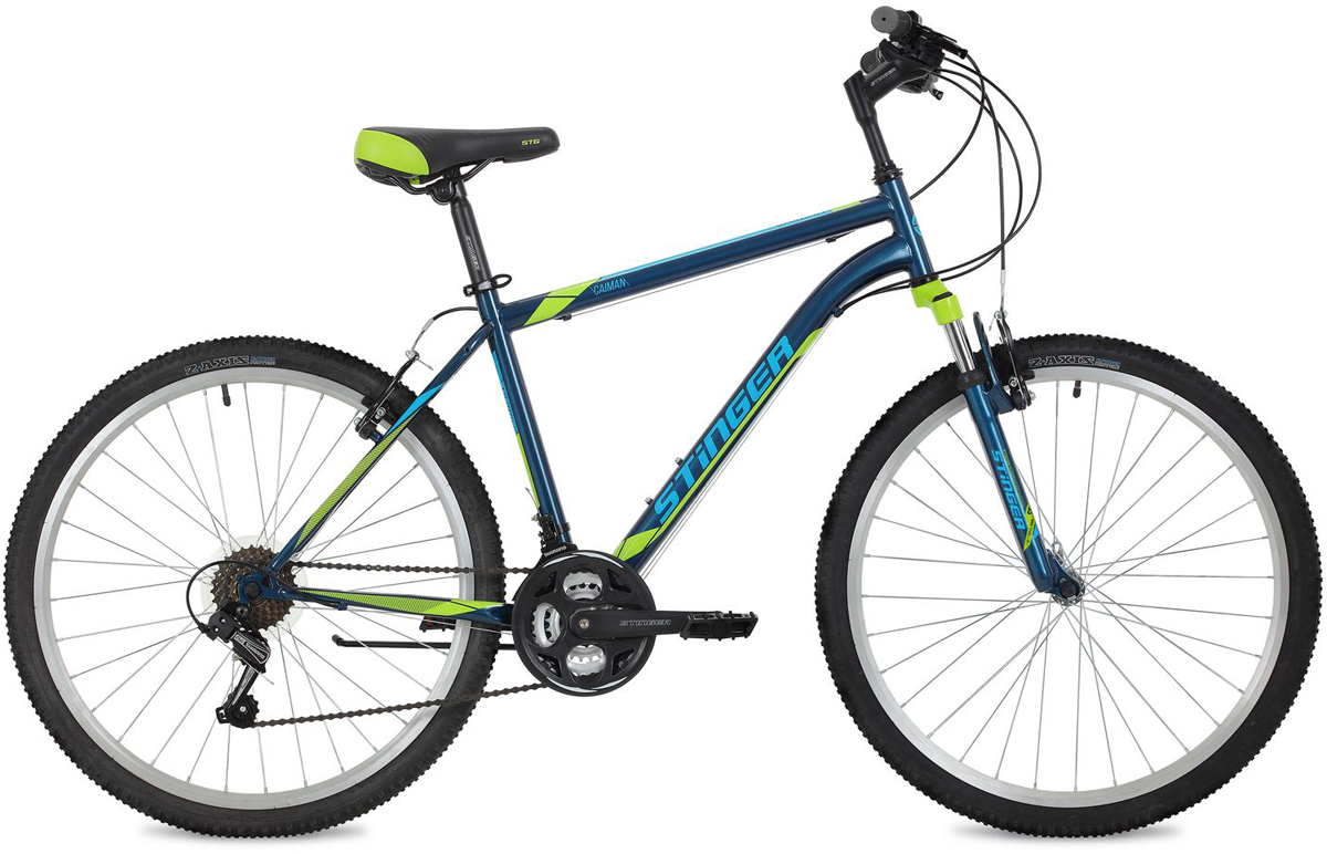 Велосипед горный Stinger Caiman, цвет: синий, 26, рама 18