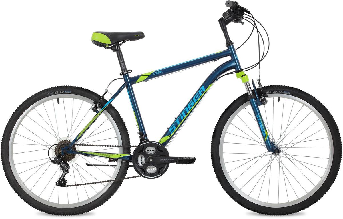 Велосипед горный Stinger Caiman, цвет: синий, 26, рама 20