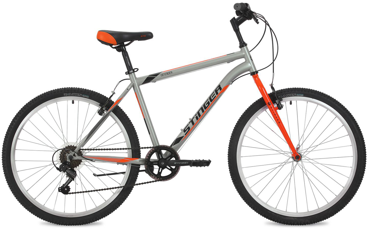 """Велосипед горный Stinger """"Defender"""", цвет: серый, 26"""", рама 20"""""""