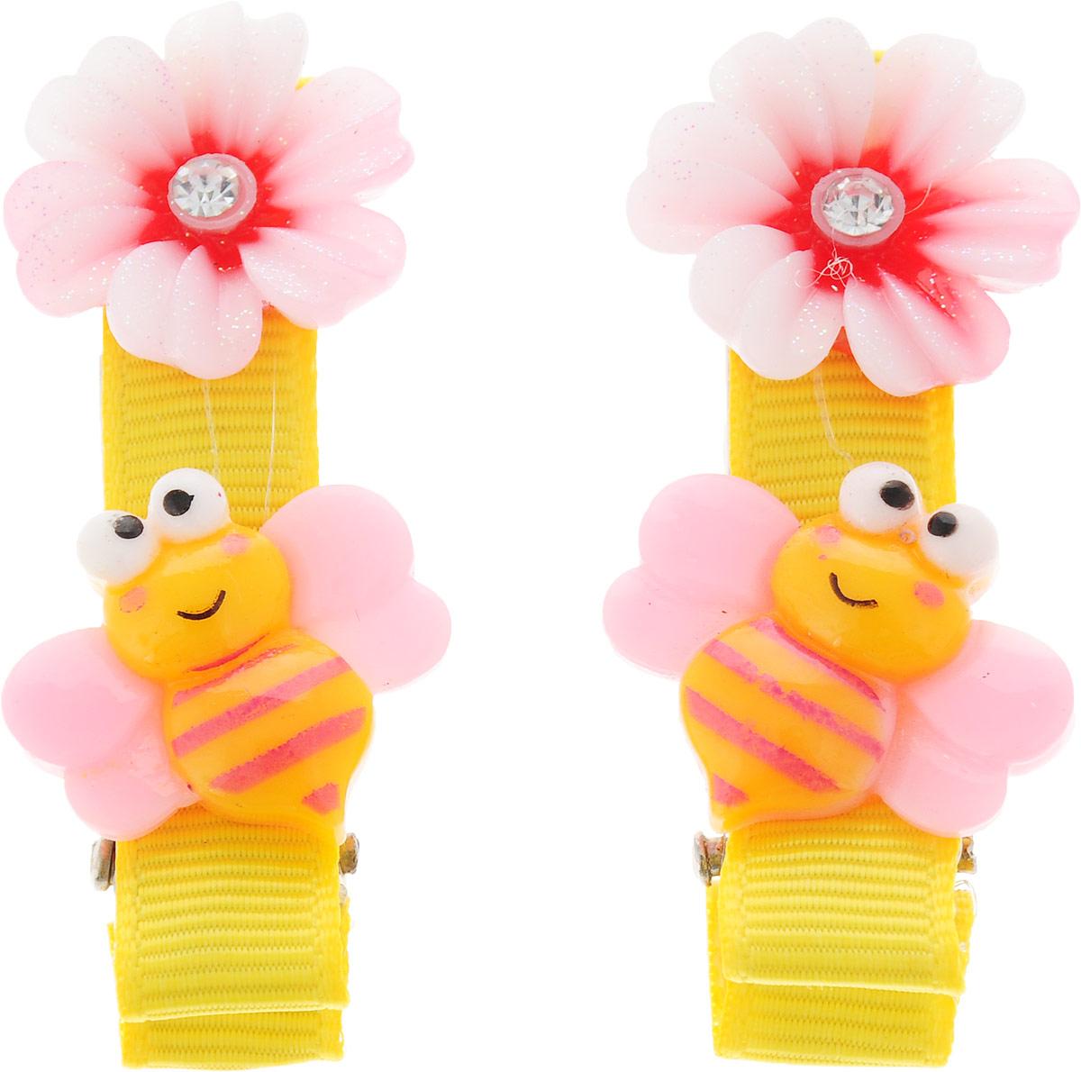 Baby's Joy Зажим для волос Пчелка 2 шт AL 966_желтый