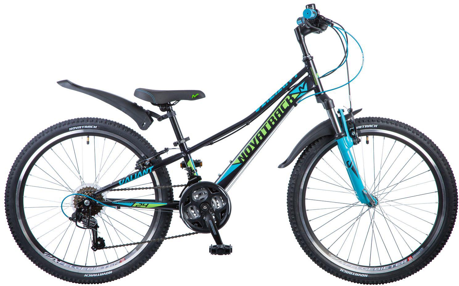 Велосипед детский Novatrack Valiant , цвет: черный, 24 , рама 10 , Велосипеды  - купить со скидкой