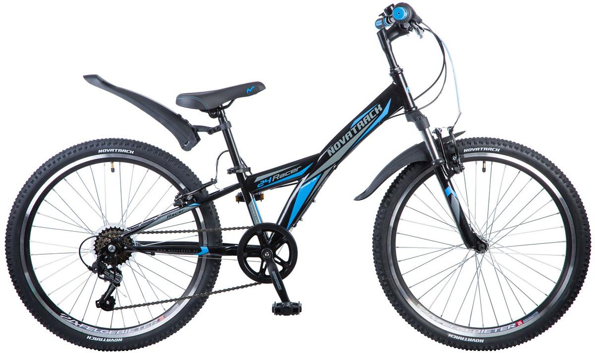 Велосипед детский Novatrack Racer, цвет: черный, 24, рама 10 велосипед детский novatrack racer цвет красный 20
