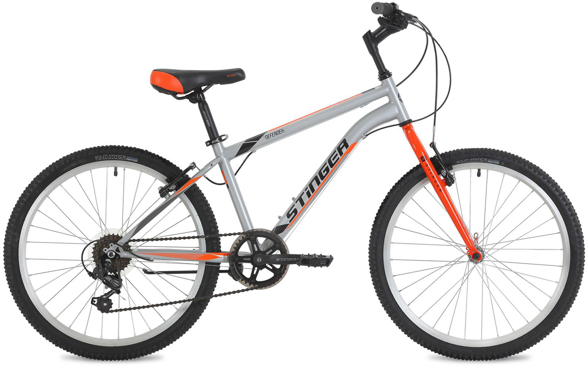 Велосипед горный Stinger Defender, цвет: серый, 24, рама 12,5