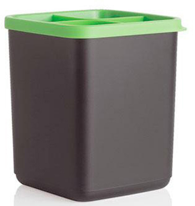 Подставка для кухонных приборов имеет компактные размеры и занимает минимальную площадь на поверхности.Подставка разделена на четыре секции. Такая конструкция обеспечивает устойчивость, так как приборы не скучиваются в одном месте и не опрокидывают изделие.В подставке с удовольствием разместятся половник, лопатки, венчики, шумовка, силиконовые скребки и щипцы для спагетти.Теперь Вам не придется тратить время и нервы, чтобы найти в ящичке кухонного стола пресс для пюре или ложку для смешивания.Подставка сохранит привлекательный внешний вид столовых приборов.В отделении кухонного шкафа столовые приборы из полимера могут покрываться царапинами из-за контакта с ножами, металлическими ложками и вилками. В специальной подставке такого не случится.Кухонные ножи помещайте в подставку только в чехлах. Обратите внимание на ножи коллекции «Универсал»: они продаются в ярких чехлах, а стильная черная ручка с цветной вставкой будет удачно гармонировать с подставкой.Изделие с комфортом разместится на даче, избавив вас от необходимости сверлить стены и вешать крючки.Подставка под столовые приборы выполнена в черном цвете с ярко-бирюзовой вставкой. Она гармонично дополняет серию кухонных приборов «Диско».Изделие разбирается для удобства мытья. Вынув бирюзовую вставку, Вы сможете тщательно промыть подставку вручную или в посудомоечной машине.