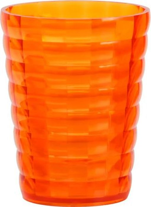 Стакан для ванной комнаты Fixsen Glady, цвет: оранжевый, 200 мл98-67Стакан оранжевый