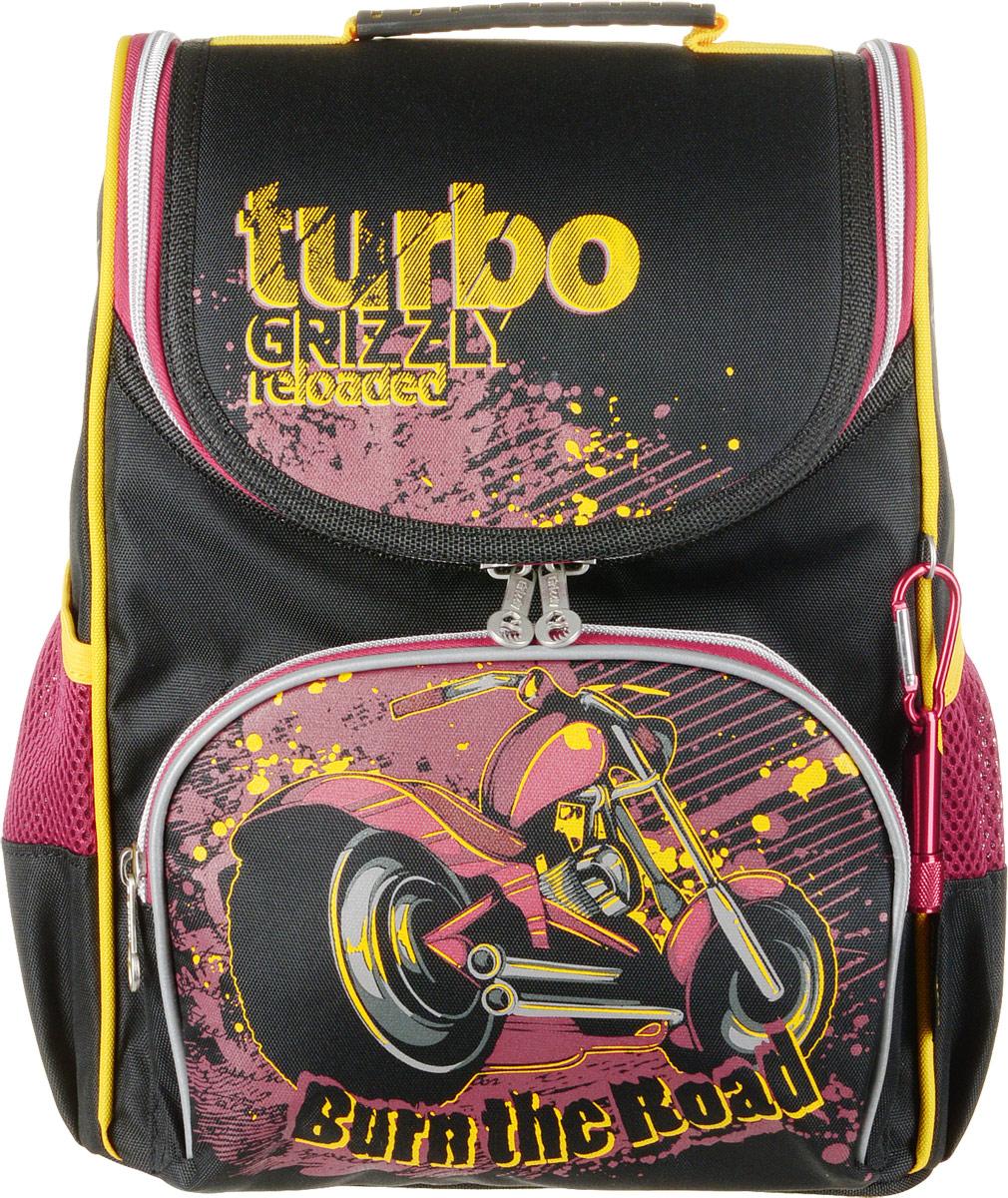 Grizzly Рюкзак школьный с мешком цвет черный красный фигура прыжок tuyue грудь мешок рюкзак рюкзак рюкзак мешок плеча после поездки на открытом воздухе досуг сумка рюкзак прилив карманы