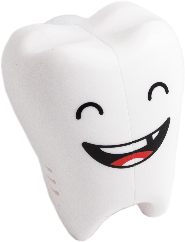 Удобный гаджет позволяет гигиенично хранить принадлежности для умывания даже в самых ограниченных пространствах - пластиковый кофр для зубной щётки в виде веселого зубика крепится на стену присоской. Сбоку в корпусе предусмотрены вентиляционные отверстия, позволяющие влаге испаряться. Чистящая часть остаётся закрытой от брызг и пыли, индивидуальное хранение щёток позволяет соблюдать необходимые гигиенические предосторожности. Материал: пластик. Держатели для зубных щёток. Упаковка - блистер на картонной подложке. Размеры упаковки: 13 х 8 х 4 см. Размеры изделия: 5,5 х 4 х 4 см.