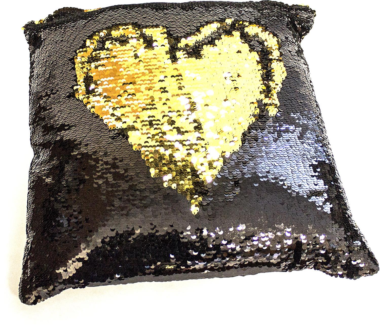 Подушка хамелеон Эврика Квадрат №1, цвет: черный, золотой