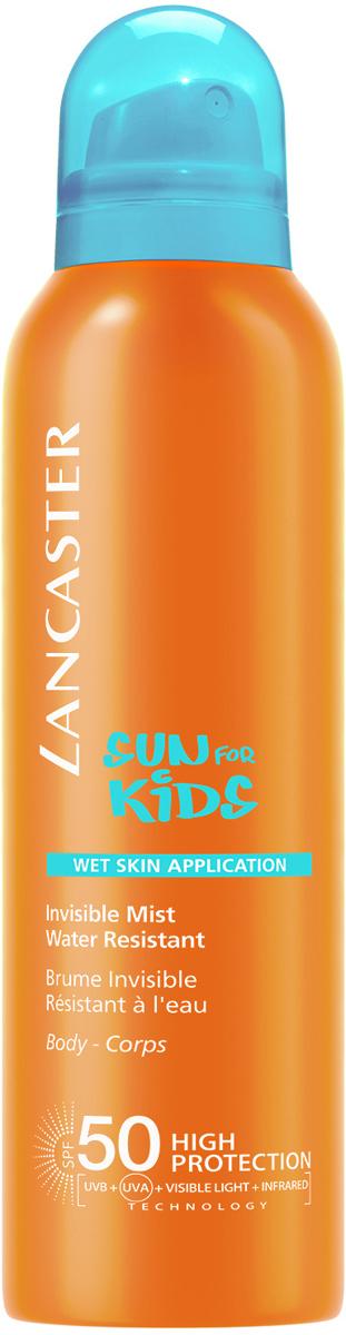 Lancaster Sun Kids Солнцезащитный водостойкий спрей для детей  возможным нанесением  влажную кожу, 200 мл