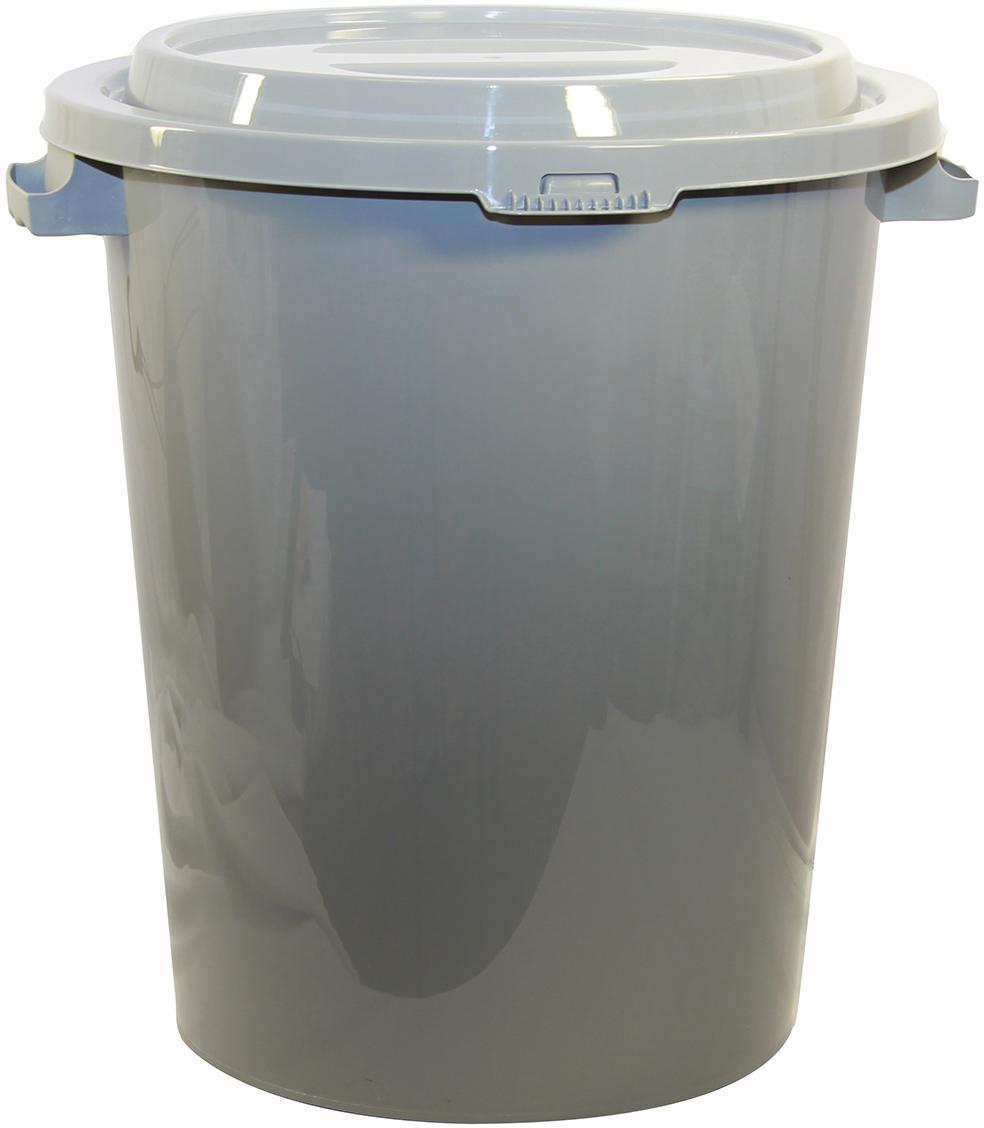 Бак мусорный  Idea , цвет: серый, 90 л. М 2394 -  Инвентарь для уборки