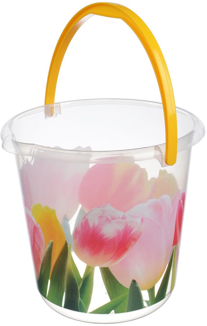 Ведро Idea. Тюльпан, цвет: прозрачный, 3 л. М 2424 ведро idea деко орхидея 5 л