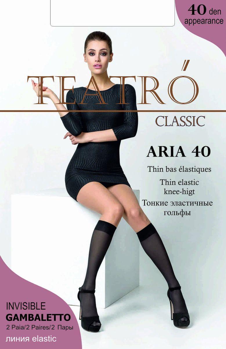 Гольфы женские Teatro Aria 40, цвет: Nero (черный), 2 пары. Размер универсальный гольфы incanto гольфы nike