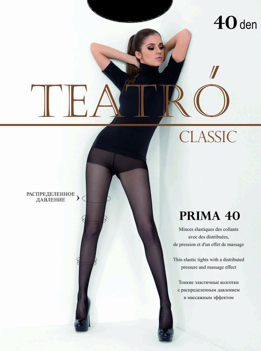 Колготки женские Teatro Prima 40, цвет: Melon (светло-бежевый). Размер 5 чулки женские teatro prestige 40 цвет melon светло бежевый размер 4