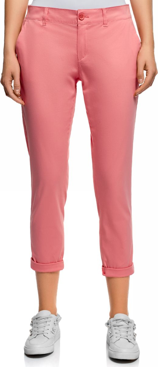 Брюки женские oodji Ultra, цвет: розовый. 11706207B/32887/4100N. Размер 44 (50-170)