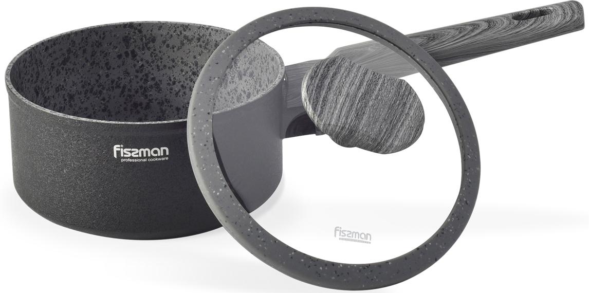 """Ковш Fissman """"Charm Stone"""" изготовлен из литого алюминия с многослойным антипригарным покрытием EcoStone, которое усилено вкраплением каменных частиц. Главное преимущество покрытия - это устойчивость к царапинам и износу. Также покрытие безопасно для здоровья человека и окружающей среды. Утолщенное дно рационально распределяет тепло, что позволяет продуктам готовиться быстро и равномерно. Приятная на ощупь ручка из бакелита не нагревается и не скользит в руках. Особенности покрытия: 5 слоев, шероховатая; твердость покрытия 3Н;  износостойкость - 10000 циклов; толщина 40-60 мкм."""
