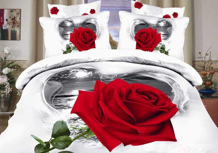 """Комплект белья Tango """"Nirvana"""", семейный, наволочки 50x70, цвет: белый, серый, красный"""