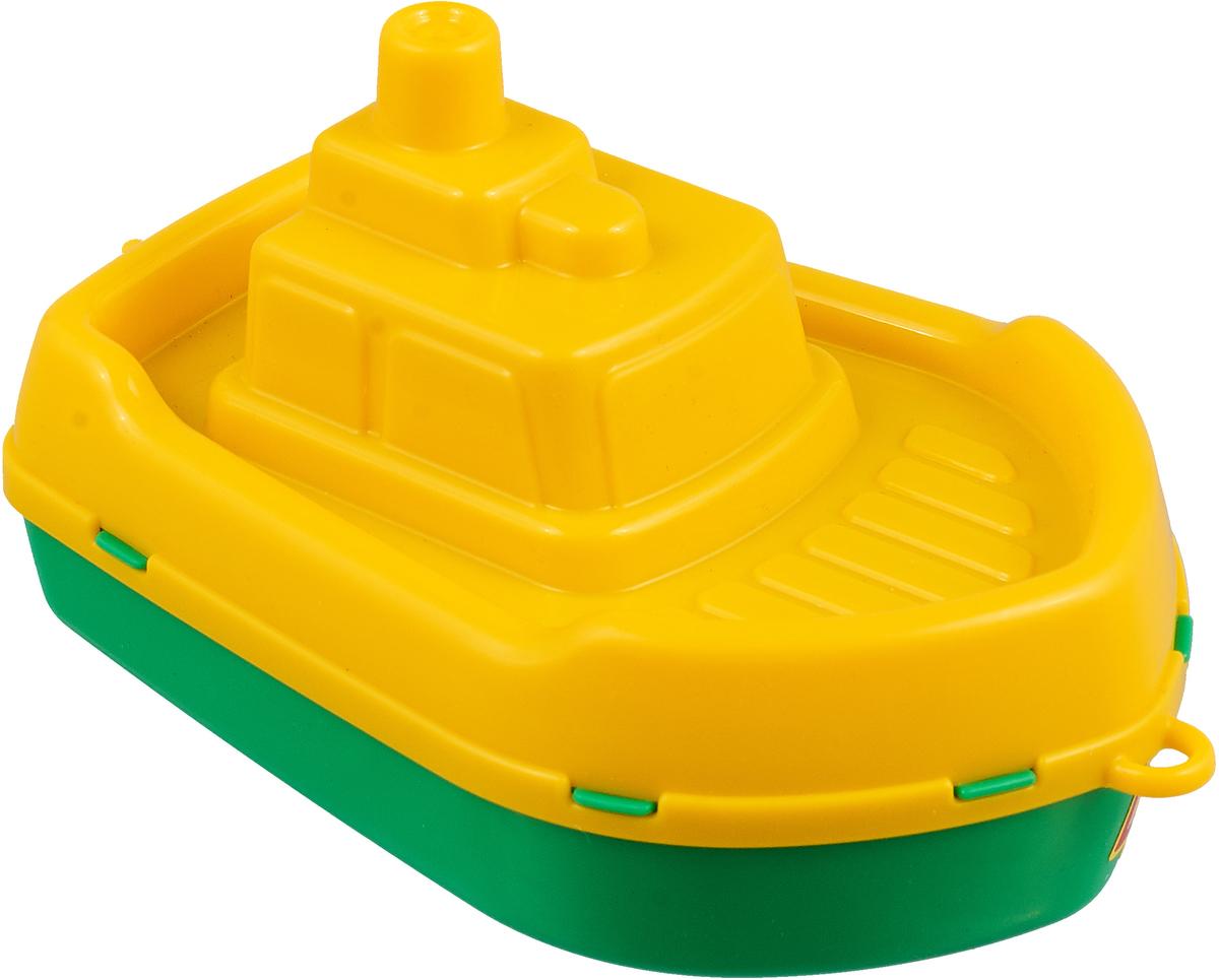 Полесье Кораблик Буксир цвет желтый салатовый полесье полесье каталка mig скутер