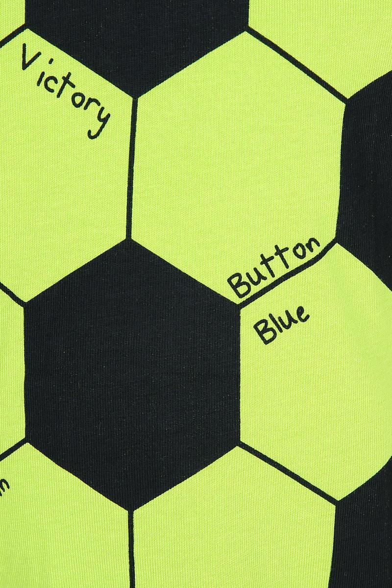 Футболка для футбола для мальчика Button Blue Football, цвет:  зеленый.  118BBBC12094800.  Размер 98 Button Blue