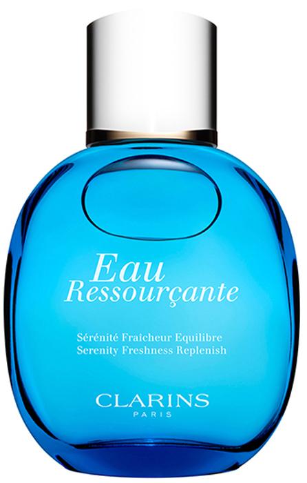 Clarins Расслабляющая и восстанавливающая вода EAU RESSOURCANTE, 100 мл02556100Cсредство ухода, сочетающее функции парфюма и полезные свойства растительных экстрактов. Освежает, снимает напряжение, дарит коже легкий приятный аромат, одновременно увлажняя и помогая сохранять ее нежность и гладкость.