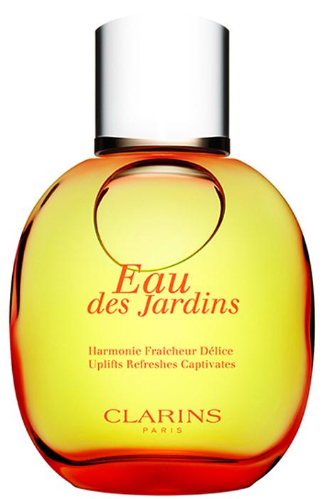 Clarins Фруктовая вода EAU DES JARDINS, 100 мл02804100Cсредство ухода, сочетающее функции парфюма и полезные свойства растительных экстрактов. Освежает, восстанавливает ощущение внутренней гармонии, придает коже легкий приятный аромат цветущего сада, одновременно увлажняя и помогая сохранять ее нежность и сияние.