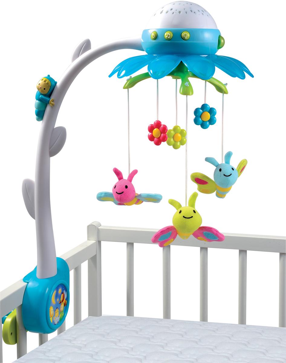 Smoby Мобиль музыкальный Цветок цвет синий - Игрушки для малышей