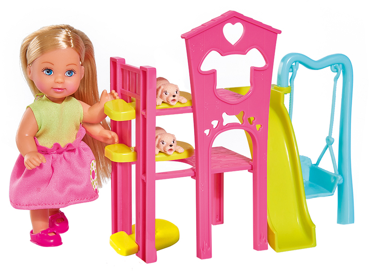 Simba Игровой набор с куклой Еви Игровая площадка для питомцев детская игровая площадка пионер дачный мини с качелями на подшипниках тк