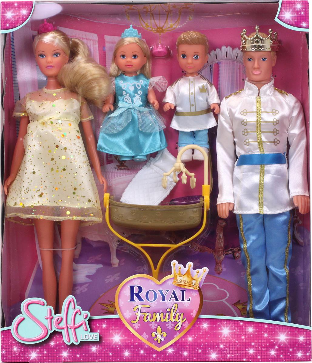 Simba Набор кукол Штеффи Кевин Еви Тимми Королевская семья куклы и одежда для кукол simba кукла еви и тимми на аттракционах 12 cм