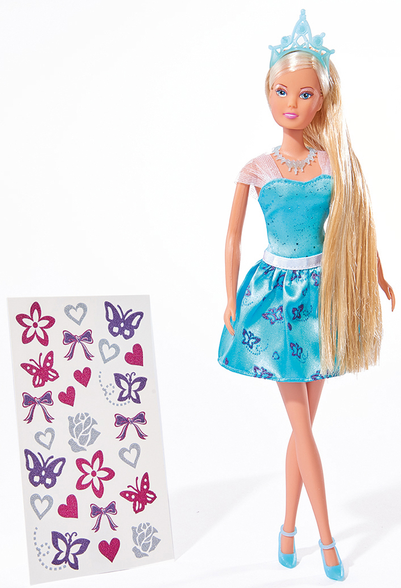 Simba Кукла Штеффи с наклейками для волос