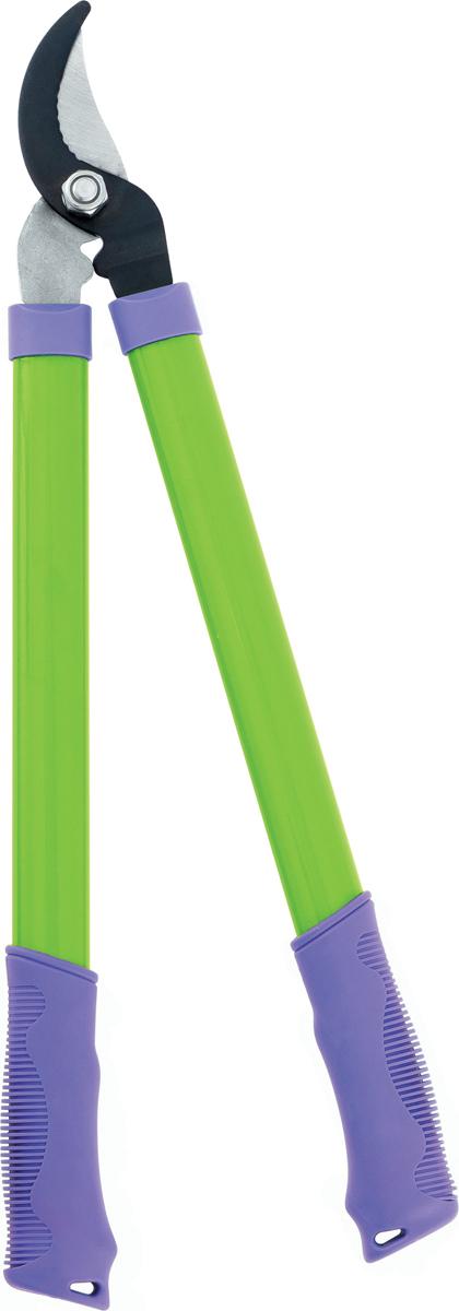 Предназначен для дистанционной обрезки живых веток диаметром до 25 мм.  лезвия из среднеуглеродистой стали закалены, что гарантирует надежность в эксплуатацииверхнее лезвие имеет тефлоновое напыление, что предохраняет его от коррозиистальные рукоятки повышают надежность в использованиирезиновая накладка в местах хвата предотвращает проскальзывание рук при работе