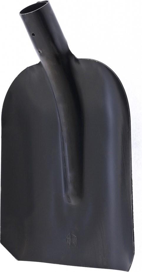 Лопаты торговой марки «Сибртех» - это удобный и долговечный инструмент, который обеспечит комфортную работу в саду и на приусадебном участке.  Благодаря утолщенному полотну устойчивы к изгибающим нагрузкам.  Они выполнены из конструкционной углеродистой стали.  Улучшенная закалка рабочей кромки повышает их износостойкость.  Для защиты от коррозии металлическая часть покрыта порошковой эмалью.  Внутренний диаметр тулейки составляет 40 мм, это позволяет использовать инструмент с черенками артикулов 68425, 68422, 68441.  Бортики по краям ковша удерживают сыпучие материалы.  Предназначена для уборочных работ.   Конструкционная сталь СТ5.  Утолщенное полотно.  Порошковое покрытие.  Без черенка