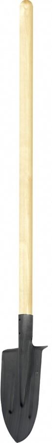 Лопата штыковая, с ребром жесткости, с черенком лопата штыковая арти копанец 40 х 21 х 5 см
